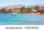 red sea coastline near town...   Shutterstock . vector #51876952