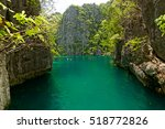 small lagoon at coron island ...   Shutterstock . vector #518772826