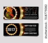happy new year party flyer.... | Shutterstock .eps vector #518775082
