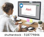 e mail popup warning window... | Shutterstock . vector #518779846