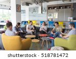 young people group in modern... | Shutterstock . vector #518781472