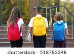 teenagers with colourful... | Shutterstock . vector #518782348