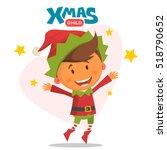 Merry Christmas Elf. Vector...