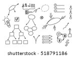 hand drawn doodle element ... | Shutterstock .eps vector #518791186