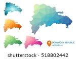 set of vector dominican... | Shutterstock .eps vector #518802442