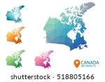set of vector canada maps.... | Shutterstock .eps vector #518805166