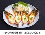 baked giant river prawn with...   Shutterstock . vector #518809216