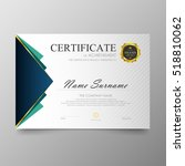 certificate template awards... | Shutterstock .eps vector #518810062