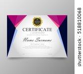 certificate template awards... | Shutterstock .eps vector #518810068