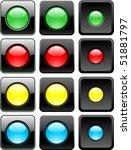 three web buttons set vector | Shutterstock .eps vector #51881797