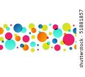 circle pattern on white... | Shutterstock .eps vector #51881857