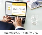Small photo of Message Live Chat Communication Concept