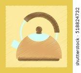 flat shading style icon coffee