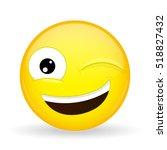 wink emoji. happy emotion. hint ...