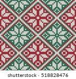 christmas jacquard knitted... | Shutterstock .eps vector #518828476