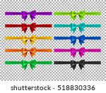 collection of silk realistic... | Shutterstock .eps vector #518830336