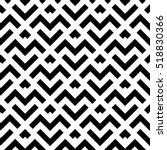 Abstract geometric pattern with stripes, lines. A seamless vector background. Black and white texture. | Shutterstock vector #518830366