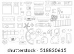 set of linear icons. interior... | Shutterstock .eps vector #518830615