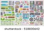 set of landscape elements. city.... | Shutterstock .eps vector #518830642