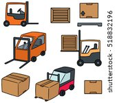 vector set of forklift truck | Shutterstock .eps vector #518832196