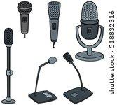 vector set of microphone | Shutterstock .eps vector #518832316