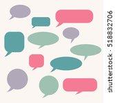 speech bubble. dream cloud.... | Shutterstock .eps vector #518832706