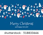 christmas paper vector seamless ... | Shutterstock .eps vector #518833666
