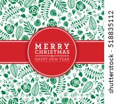 vector merry christmas and... | Shutterstock .eps vector #518835112