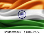 india flag of silk 3d... | Shutterstock . vector #518836972