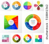 vector circle infographic set.... | Shutterstock .eps vector #518841562