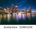 The Boston Skyline At Night ...