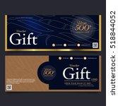 gift voucher template ... | Shutterstock .eps vector #518844052