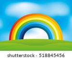 Rainbow And Clouds In The Blue...