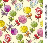 seamless pattern with color... | Shutterstock .eps vector #518850382