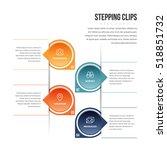 vector illustration of stepping ... | Shutterstock .eps vector #518851732