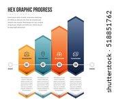 vector illustration of hex... | Shutterstock .eps vector #518851762