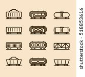 cargo wagon train container... | Shutterstock .eps vector #518853616