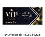 vip party premium invitation... | Shutterstock .eps vector #518854225