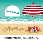 merry christmas in a warm... | Shutterstock .eps vector #518855872