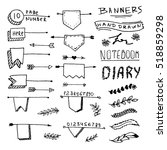 hand drawn banners for your... | Shutterstock .eps vector #518859298