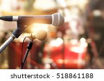 microphone on concert stage... | Shutterstock . vector #518861188