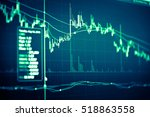 financial data on a monitor as...   Shutterstock . vector #518863558