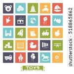 toys for babies  kids  children ... | Shutterstock .eps vector #518865862