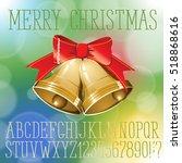vector handmade christmas... | Shutterstock .eps vector #518868616