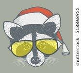 raccoon vector illustration... | Shutterstock .eps vector #518868922