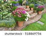 colourful garden terrace with...   Shutterstock . vector #518869756