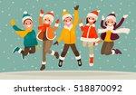 happy winter vacation. warmly... | Shutterstock .eps vector #518870092