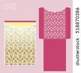 laser cut wedding invitation... | Shutterstock .eps vector #518870386