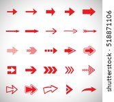 arrow icons set   vector... | Shutterstock .eps vector #518871106