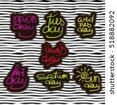 sticker pin trendy label patch... | Shutterstock .eps vector #518882092